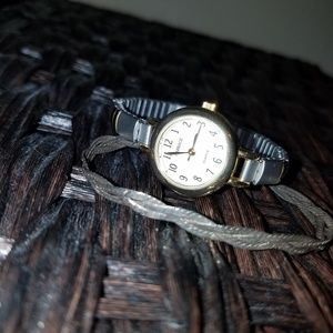 Carriage by Timex watch & sterling bracelet
